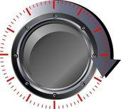 Black button download — Stock Vector