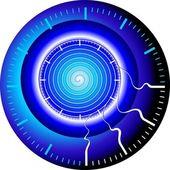 Bouton à travers le temps — Vecteur