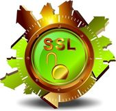 SSL - Security gold — Stock Vector