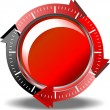Red button download — Stock Vector