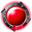 Red button download — Vector de stock #9111803