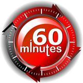 60 минут — Стоковое фото