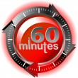 60 minutes — Stock Vector