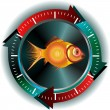 Fish button — Stock fotografie #9369254