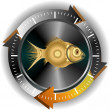 Gold fish button — Foto Stock #9369289