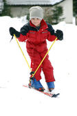 Young boy skiing — Stock Photo