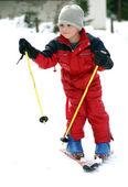 Little skier — Stock Photo