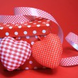 Red gift box with hearts — Stock Photo #8561235