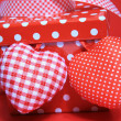 Red gift box with hearts — Stock Photo #8561240