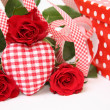 Valentine gift box - Stock Photo
