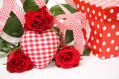 Valentine gift box — Stock Photo