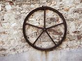 Old iron wheel — Stock Photo