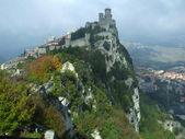 San Marino in the clouds — Stock Photo