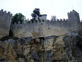 Castle medieval of San Marino — Stock Photo