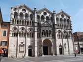 Cathedral of Ferrara — Stock Photo