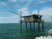 Fisherman's house ( bilancione adriatic) — Stock Photo