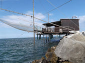 Fisherman's ( bilancione adriatic) — Stock Photo