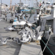 A flock of gulls on the dock — Stock Photo