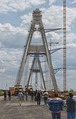 A pylon at Megyeri bridge — Stock Photo