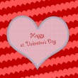 Valentine's day background with hearts, sample text - Stockfoto