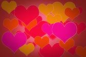 Sevgililer günü kalpleri ile arka — Stok fotoğraf