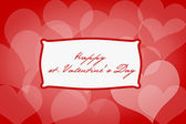 Valentine's day background with hearts, sample text — Stock Photo