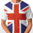 UK t-shirt isolated on white — Stock Photo