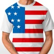 American t-shirt isolated on white — Stock Photo
