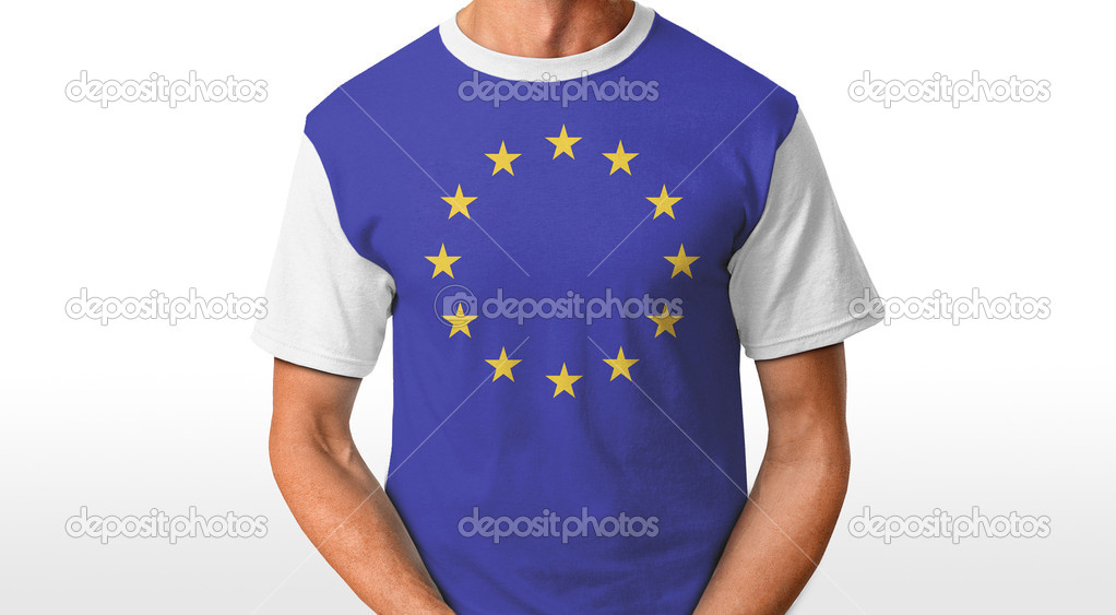 Europe t-shirt isolated on white — Stock Photo #8645768