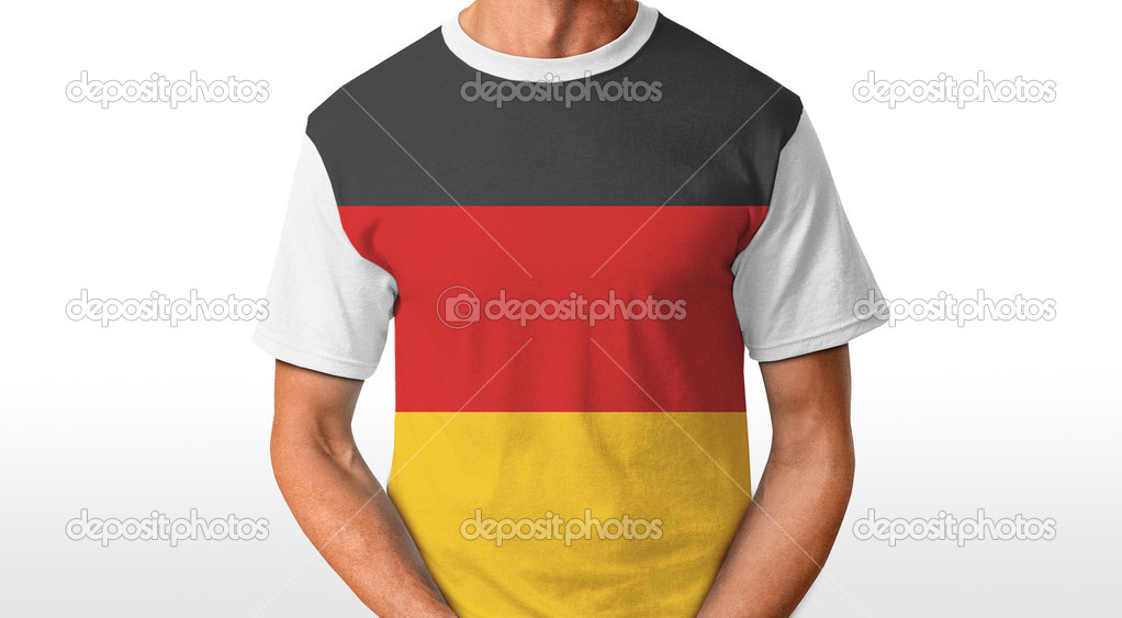 German t-shirt isolated on white — Stock Photo #8645793