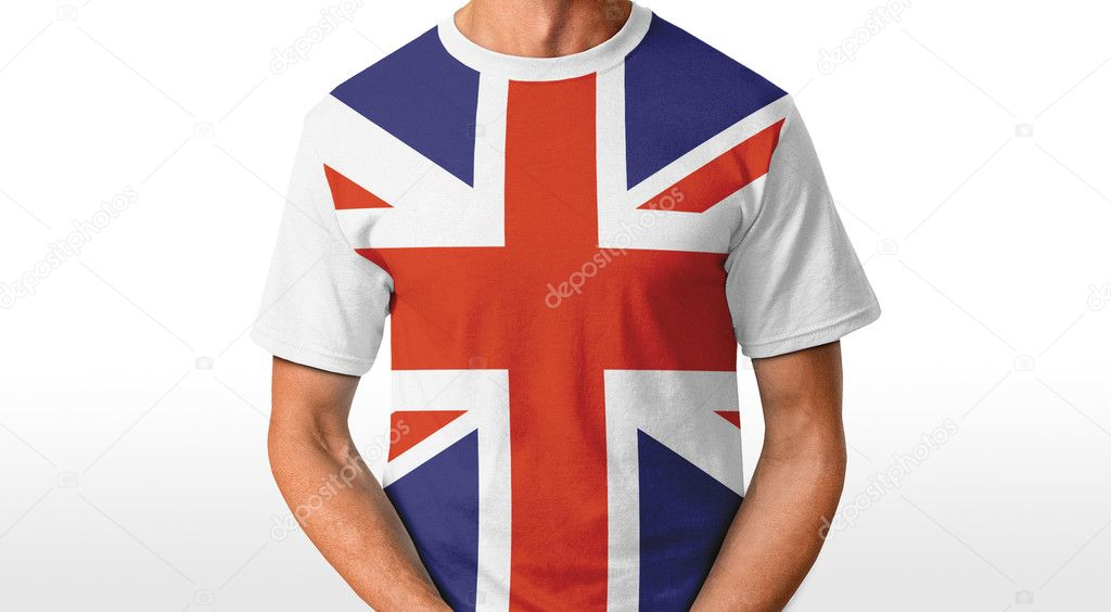 UK t-shirt isolated on white  Stock Photo #8645802