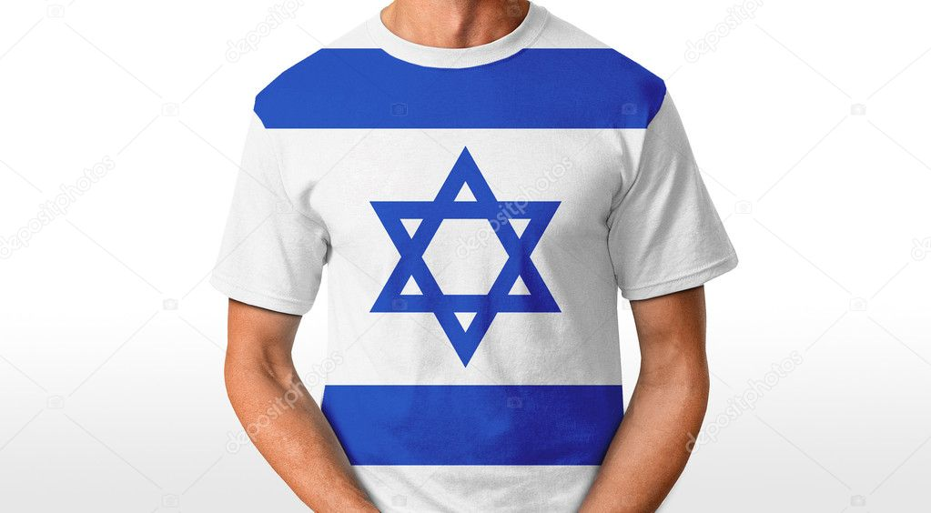 Israel t-shirt isolated on white — Stock Photo #8645819