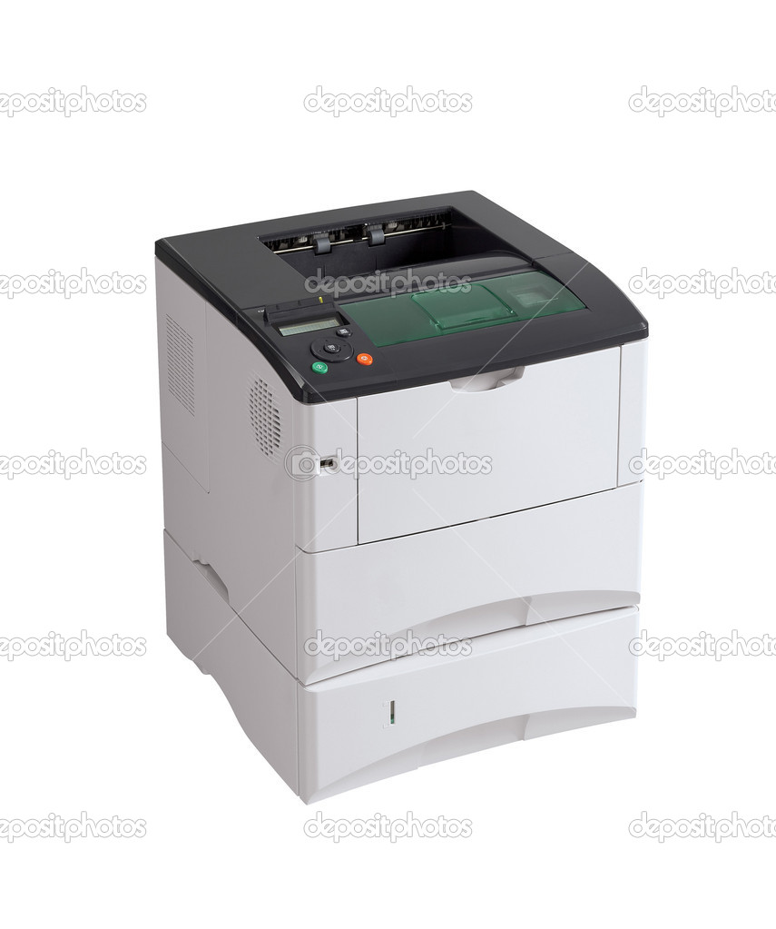 Printer under the white background. — Stock Photo #8896943