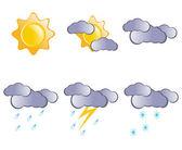 Previsioni meteo icone. — Foto Stock