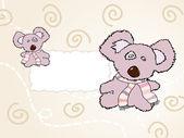 Toy teddy bear. vector — Stock Vector