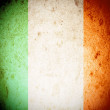Stock Photo: Ireland flag on grunge paper