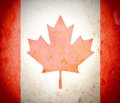 Canada flag on grunge paper — Stock Photo