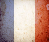 France flag on grunge paper — Stock Photo