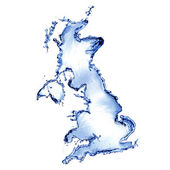 Water splash by concept of United Kingdom — Stock Photo