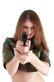 Fille sexy avec des armes à feu — Photo