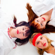 Three pretty girls - Stock Photo