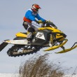 Snowmobile racing — Stock Photo #8414619