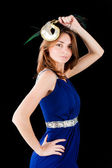 Pretty woman with mask — Stock Photo