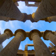 Stock Photo: Columns in Karnak Temple
