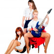 Stock Photo: Musical girls band