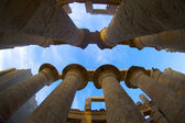 Colunas no templo de karnak — Foto Stock