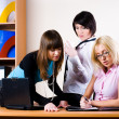 Three pretty businesswomen — Stock Photo #9192598