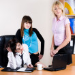 Three pretty businesswomen — Stock Photo