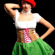 German beer girl — Stock Photo