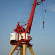Crane in river port - Stock Photo